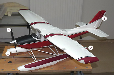 Cessna modifikationen for Schwarze klebefolie